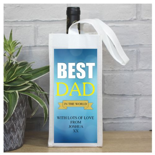 Personalised Happy Fathers Day Bottle Bag N82